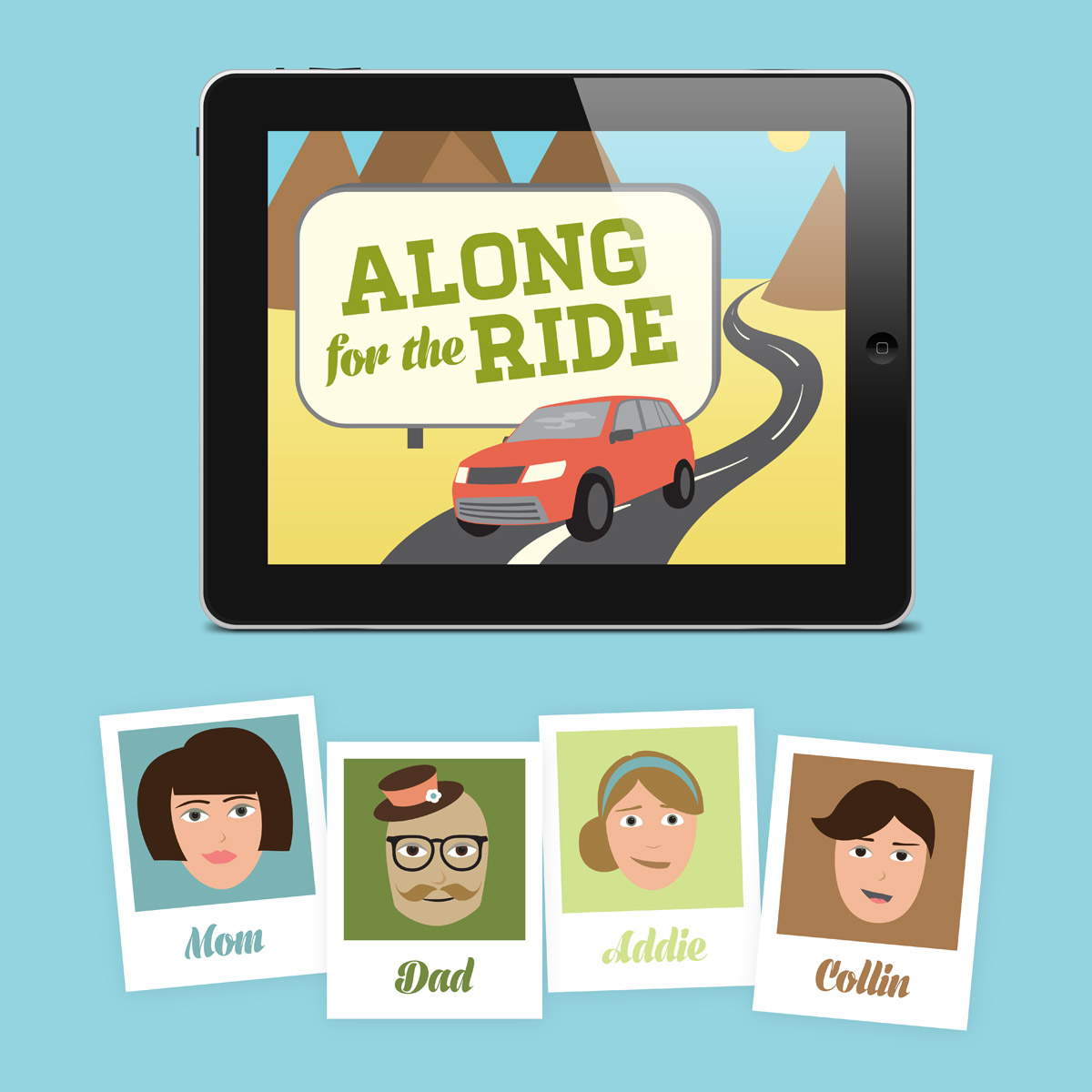 Along For The Ride app with sample avatars